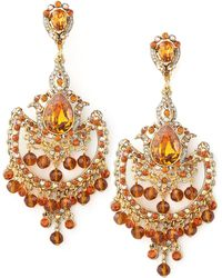 Jose & Maria Barrera Topaz-colored Drop Earrings red - Lyst