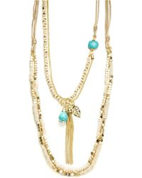 Cara Four Row Nested Necklace- 40 In
