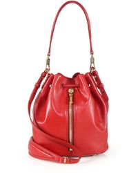 Elizabeth and James | Cynnie Mini Leather Bucket Bag | Lyst
