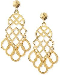Tory Burch 16k Goldplated Lace Earrings - Lyst