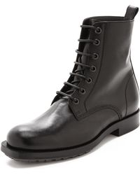 Viktor & Rolf Leather Lace Up Boots - Lyst
