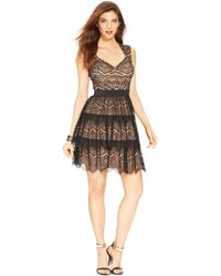 Guess Sleeveless Tiered Lace Dress - Lyst