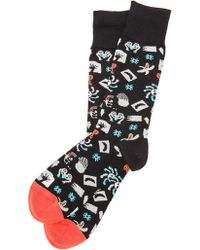 Paul Smith Novelty Collage Socks - Lyst