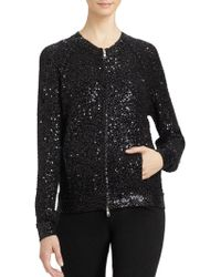 Donna Karan New York B Sequined Cardigan - Lyst