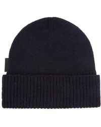 J.Lindeberg - Alf Navy Knitted Beanie - Lyst