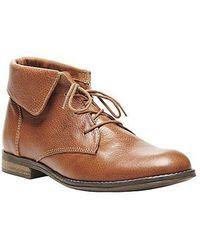 Steve Madden Stringrei Leather Ankle Boots - Lyst