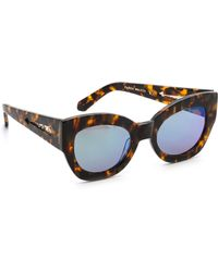 Karen Walker Northern Lights Mirrored Sunglasses - Crazy Tortgreen Revo - Lyst