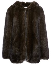 Sonia Rykiel Knitted Sable Parka - Lyst