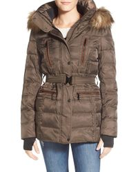 Vince Camuto - Faux Down & Feather Jacket With Faux Fur Trim - Lyst