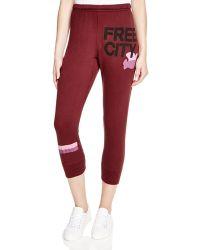 FREE CITY - Cropped Sweatpants - Lyst