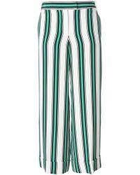 Ferragamo   Striped Wide Leg Trousers   Lyst