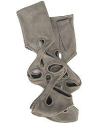 Thomasine Gloves - New York Mitaine Pleated Wrist Grey - Lyst