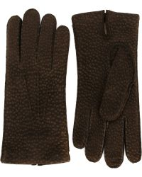 Canali - Peccary Leather Gloves - Lyst