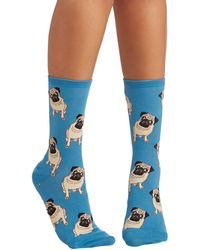 Socksmith Pug Life Socks In Blue - Lyst