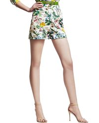 Carolina Herrera - Botanical-Print Shorts - Lyst