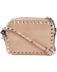 Valentino Rockstud Leather Cross-Body Bag - Lyst