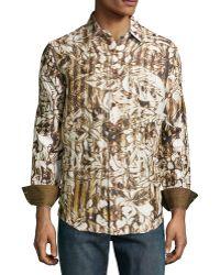 Robert Graham Durante Classic Leaf Print Sport Shirt - Lyst
