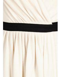 Diane von Furstenberg - Seduction Ivory Wool And Lace Wrap Dress - Lyst