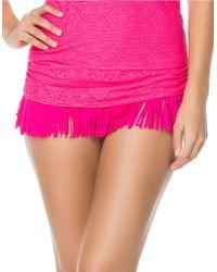 Jessica Simpson Desert Fringe Swim Skirt - Lyst
