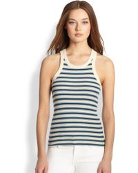 Ralph Lauren Blue Label Kira Striped Tank - Lyst