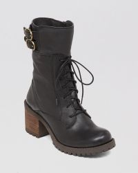 Lucky Brand - Lace Up Lug Sole Combat Boots - Nylah - Lyst