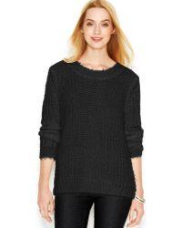 Maison Jules Long-sleeve Open-stitch Sweater - Lyst