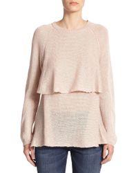 Brunello Cucinelli Sequined Overlay Sweater - Lyst