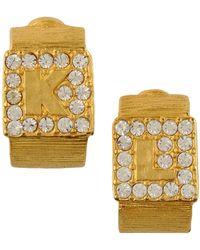 Karl Lagerfeld Earrings - Lyst