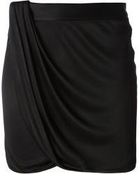 Versace Draped Shorts - Lyst