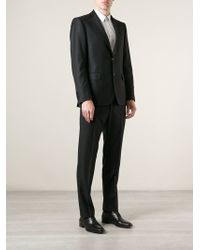 Ferragamo Black Formal Suit - Lyst