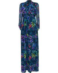 Matthew Williamson Jardin Chiffon Belted Wrap Gown - Lyst