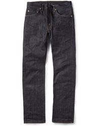 Levi's 505 Slim-fit Dry Selvedge Denim Jeans - Lyst