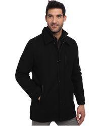 Calvin Klein Wool Melton Carcoat black - Lyst