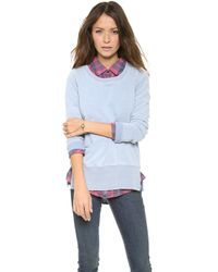 Splendid Indigo Dye French Terry Pullover - Lyst