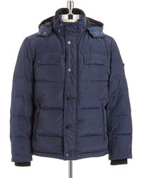 Strellson Quilted Puffer Coat - Lyst