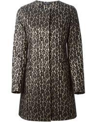 Tagliatore Jacquard Leopard Print Coat - Lyst