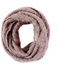 Oasis Grey Fluffy Snood Scarf - Lyst
