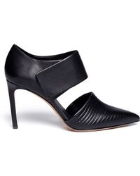 Vince Carpi Cutout Leather Booties - Lyst