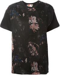MSGM Printed Organza Overlay T-Shirt - Lyst