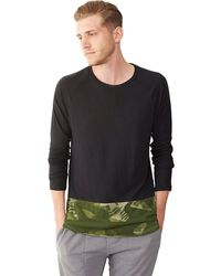Alternative Eco Jersey Contrastshirttail Shirt - Lyst