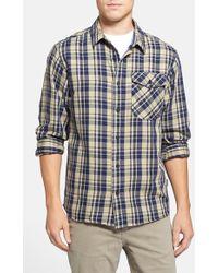 Patagonia 'Iron Ridge' Regular Fit Organic Cotton Twill Plaid Shirt - Lyst