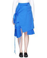 Angel Chen - Deconstructed Shirt Poplin Skirt - Lyst