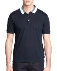 Armani Contrast Collar Polo - Lyst