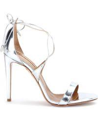 Aquazzura Linda Metallic Leather Sandals - Lyst