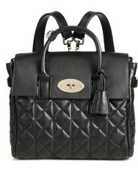 Mulberry Cara Delevingne Convertible Quilted Leather Satchel black - Lyst