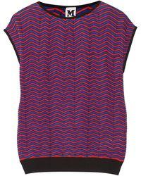 M Missoni Crochet-knit Cotton-blend Top - Lyst