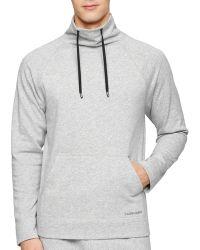 Calvin Klein Pullover Top gray - Lyst