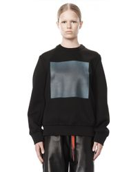 Alexander Wang Oversized Sweatshirt with Heat Tech Print - Lyst