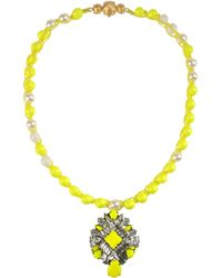 Shourouk Necklace - Lyst