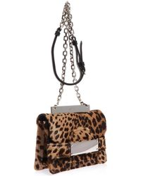 No 21 Small Calfhair Chain Shoulder Bag - Lyst